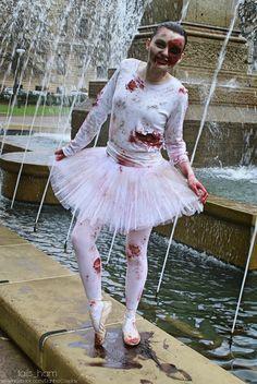 zombie ballerina dancing in blood - Dead Ballerina Halloween Costume