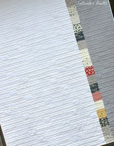 Double Stacked Reunion Quilt (back) by Saltwater Quilts, via Flickr #reunion #sweetwater #quiltback