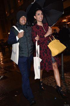 Caterina Balivo e Guido Maria Brera a Milano il 3 novembre 2014.