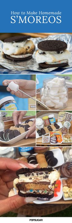 Forget the graham crackers, because Oreo s'mores are the best thing that's happened to Summer since the Oreo churro. Learn how to set up a s'mOreo bar at home, complete with different types of chocolate, marshmallows, and toppings (Nutella and Reese's, anyone?).