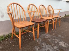 A personal favourite from my Etsy shop https://www.etsy.com/uk/listing/497802059/set-of-four-1960s-ercol-windsor-dining