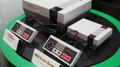 SDCC 2016: Here's what the mini Nintendo NES Classic Edition looks like in the flesh -> http://www.techradar.com/1325224  By now you know that Nintendo is bringing back the NES in miniature form but we hadn't seen it in the flesh until today.  The Nintendo Entertainment System: NES Classic Edition decided to make the trip to San Diego Comic-Con and we caught the little thing sitting right next to its bigger older brother in the Nintendo Lounge.  While we couldn't get up close and personal…