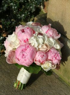 The Bride's Bouquet of Pink Peonies