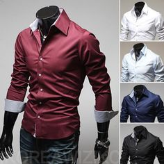 Spring Fashion Casual Slim Dress Shirts – eDealRetail