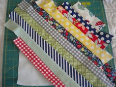 string quilt Square Covered with Strips