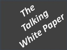 """The Best Speakers Tell Stories - Do Not Be a """"Talking White Paper"""" ;-)"""