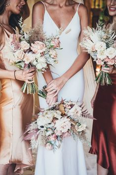 Jordan is French crepe luxury and striking simplicity. She will hug all the right places with classic elegance. Blush Dresses, Bridesmaid Dresses, Bridesmaids, Colored Wedding Dresses, Wedding Gowns, Wedding Bouquets, Blush Pink Weddings, Affordable Wedding Dresses, Wedding Vendors