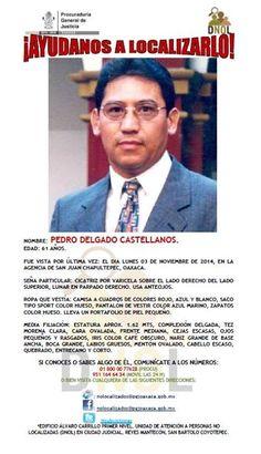 Edad: 61 años Fue visto por última vez: el día 03 de Noviembre de 2014 en la Agencia de San Juan Chapultepec, Oaxaca- http://www.pixable.com/share/5Xsck/?tracksrc=SHPNAND2&utm_medium=viral&utm_source=pinterest