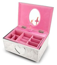 Just look at this gorgeous Lenox Childhood Memories Ballerina Jewelry Box. It's built to last made of metal not cheap plastic!