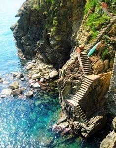 Stairway to the ocean, Amafli coast of Italy
