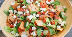 The Hungry Hounds— Roasted Vegetable Fattoush Salad