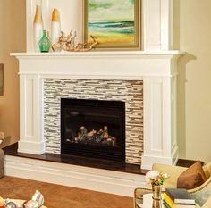 Raised Hearth Fireplace Mantel                              …