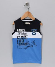 Take a look at this Pilot 'Coastal Force' Tank - Toddler & Boys by Losan on #zulily today!