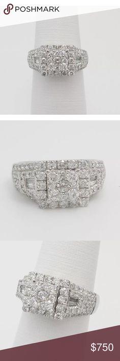 Gorgeous 1.30 carat 10k white gold diamond ring Gorgeous 1.30 carat 10k white gold diamond ring Jewelry Rings