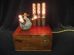Steampunk Diabolical Box 42 Mad Scientist by steampunklighting, $195.00