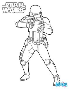 Captain Phasma coloring sheet from the new Star Wars movie