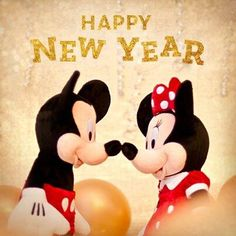 Happy New Year from Mickey And Minnie New Years Eve Day, Happy New Years Eve, Mickey Mouse And Friends, Mickey Minnie Mouse, Disney Happy New Year, Mickey Love, Disney Clipart, Disney Fanatic, Best Disney Movies
