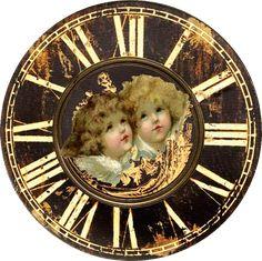 View album on Yandex. Old Clocks, Antique Clocks, Clock Printable, Retro, Diy Clock, Grandfather Clock, Shabby, Free Prints, Miniture Things