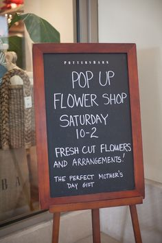 POTTERY BARN POP-UP FLOWER SHOP: How can we do this!? There is no other place with as much appreciation for flowers than us!