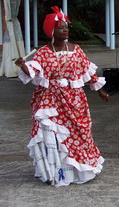 Street dancer on Saint Lucia in the Caribbean
