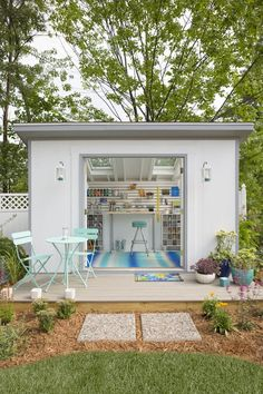 Lovely and Cute Garden Shed Design ideas for Backyard Part 35 ; garden shed ideas; garden shed organization; garden shed interiors; garden shed plans; garden shed diy; garden shed ideas exterior; garden shed colours; garden shed design Backyard Office, Backyard Studio, Backyard Sheds, Outdoor Sheds, Outdoor Office, Backyard Layout, Sloped Backyard, Backyard House, Cozy Backyard