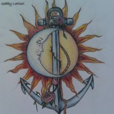 I've always wanted the moon/sun & the anchor is perfect! i love it
