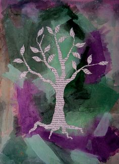 Eco-Newspaper Tree - Archival Art Print - Recycle Environment - Tree Print - Tree Wall Art - Green Decor - Tranquil Nature Art