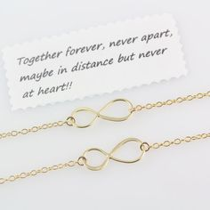Gold INFINITY Necklace  Gold Mother daughter necklace . by MonyArt, $55.80