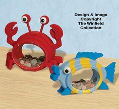 Fat Crab & Fish Coin Bank Plans