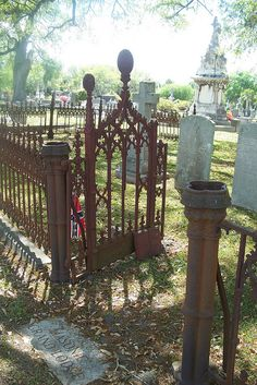 Old Wrought iron gate Magnolia Cemetery Charleston SC by katlady4578, via Flickr