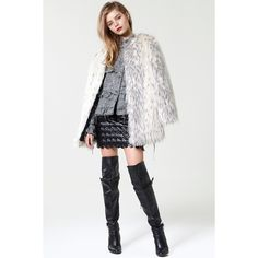 Storets Glam Party Faux Fur Coat ($248) ❤ liked on Polyvore featuring outerwear, coats, faux fur coat, white faux fur coat, white coat, imitation fur coats and white fake fur coat