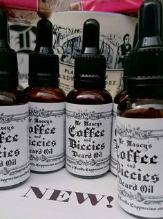 Mr. Masey's Coffee & Biccies Beard Oil 30ml by BeardEmporium on Etsy