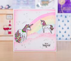 Fun unicorn stamp design from the For the Love of Stamps Ultimate Bundle 3! / stamping / cardmaking / papercraft / scrapbooking / stamps