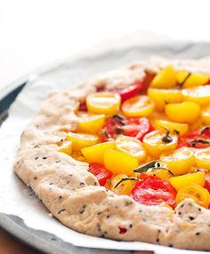 Creme Fraiche Galette with tomatoes