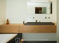 Bathroom furniture - Lilly is Love Bathroom Vanity Designs, White Vanity Bathroom, Bathroom Toilets, Laundry In Bathroom, Minimalist Bathroom, Modern Bathroom, Tamizo Architects, Dark Bathrooms, Toilet Room