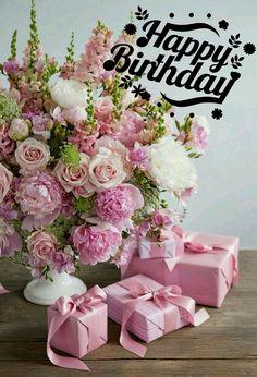 Happy Birthday Flowers Wishes, Happy Birthday Bouquet, Happy Birthday Greetings Friends, Free Happy Birthday Cards, Happy Birthday Foil Balloons, Happy Birthday Art, Happy Birthday Wishes Images, Happy Birthday Cupcakes, Birthday Blessings