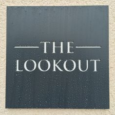 Stainless Steel House Name The Lookout Times New Roman Font Anthracite Grey Powder Coating White Backing Plate More information on these products can