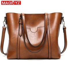 a6fde7db691 Comprar Las mujeres bolsa de aceite cera de las mujeres bolsos de cuero de  lujo de señora bolsos de mano con bolsillo monedero de mensajero de mujer