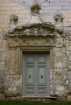 Les ruines de l'abbaye de St Wandrille , Normandie