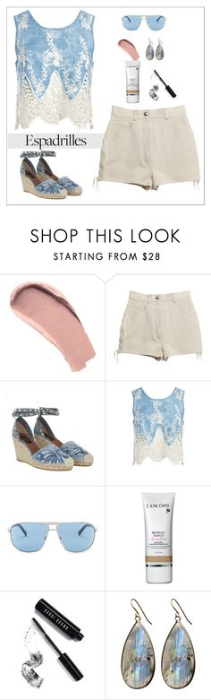 """""""espadrilles"""" by patricia-dimmick on Polyvore featuring Burberry, Chanel, Valentino, Sans Souci, VonZipper, Lancôme, Bobbi Brown Cosmetics, Avah and Ella and espadrilles"""