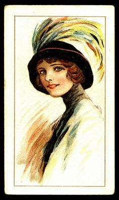 Cigarette Card - Beauties in Picture Hats | Flickr