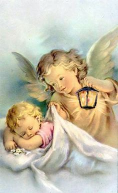 Shop Vintage Guardian Angel And Baby Greeting Card created by RetroMagicShop. Personalize it with photos & text or purchase as is! Vintage Illustration, I Believe In Angels, Ange Demon, Angel Pictures, Prayer Pictures, Angels Among Us, Angels In Heaven, Heavenly Angels, Guardian Angels