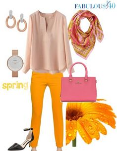 Don't you love the juicy combo of pink and tangerine?l Fabulous After 40