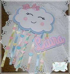 Rainbow First Birthday, Baby Birthday, Birthday Decorations, Birthday Party Themes, Raindrop Baby Shower, Rain Baby Showers, Diy And Crafts, Crafts For Kids, Baby Shawer