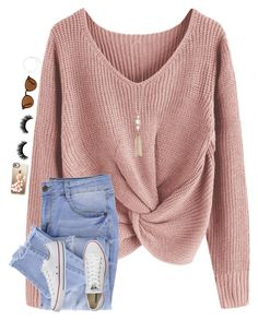 """""""•❤️•"""" by mackenzielacy814 ❤ liked on Polyvore featuring Essie, Artémes, Ray-Ban, Casetify, Converse and Kenneth Jay Lane"""