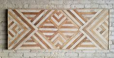 Art mural bois récupéré tête de lit Queen par EleventyOneStudio