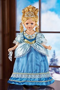 Collections Etc Princess Cindy Collectible Porcelain Doll