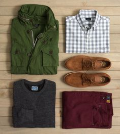 FOR GUYS:CHEAT SHEET: Five of our favorite fall staples.