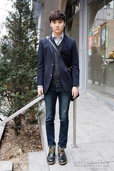 Korean Men's Street Style Fashion