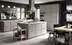 Combine BODBYN grey fronts with ENERYDA knobs and handles in brass for a smart, traditional style kitchen from IKEA. Ikea Bodbyn, Bodbyn Grey, Drawer Rails, Drawer Fronts, Grey Kitchen Cabinets, Base Cabinets, Kitchen Grey, Kitchen Planner, Painted Drawers